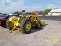 Industrial gasoline tractor w/loader and 3 point