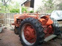 M farmall for sale. trike front end. needs a starter to