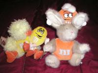 TWO Boyds/M & M's Plush Dolls....Bear Rabbit With