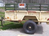 M101a2 military dump trailer. Surge and hand brakes.