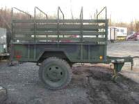 M105 military cargo trailer,Pa title,brand new bed,good
