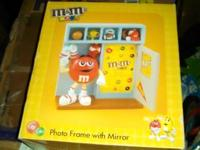 New in Box M&M Photo frame with mirror   Asking $5