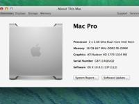 Mac Pro 2.66 Quad-Care is running OS X 10.9.5 with