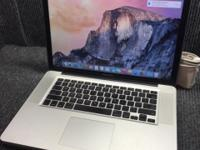 "Up for sale I have a mint MacBook Pro 15"" Intel i7"