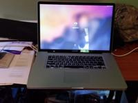 "Macbook Pro 17.3"" laptop. Used about 6 months, just"