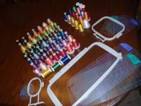 Machine embroidery supplies. 59 unopened/unused thread
