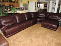 Here is a Stunning Macy's Burgundy Leather Theater