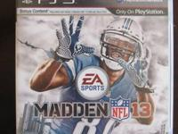 We have a Madden 13 and Mlb 12 The program PS3 video