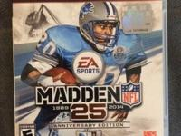 This posting is for a LIKE NEW MADDEN 25 ANNIVERSARY