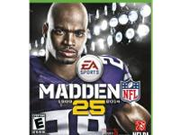 Hello, I am selling my Madden 25 game for the Xbox One