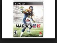 Madden 15 for PS3! Exceptional condition. Got it as an