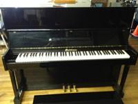 Very nice condition Maddison upright piano. Height 48""