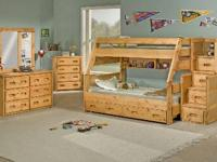 We have brand-new American Made bunkbeds for sale.