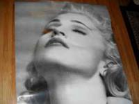 "Giant 60'' x 44"" Madonna Poster. Heavy Guage Stock -"
