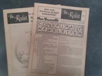 2 intact issues of the Realist devoted to Mae Brussell,