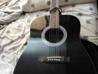 Black Maestro by Gibson Acoustic Guitar six strings,
