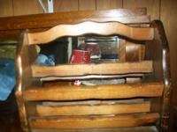 I have a nice wooden magazine rack for sale. In good