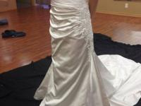 Gorgeous pearl color bridal gown for sale by designer