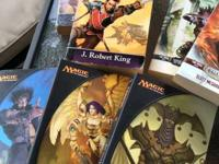 A pick up of Magic The Gathering books. Twelve total