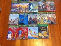 I have 17 Magic Tree House books by Mary Pope Osbourne.