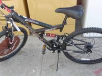 """Magna Excitor MOUNTAIN""  BLACK  BIKE   $125.00"