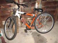 Magna 26 inch mountain bike for sale. It's a 21 speed.