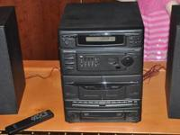 Magnavox stereo with speakers and remote. Works fine,