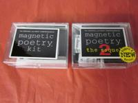 Original Magnetic Poetry Kit and Magnetic Poetry 2 the