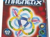 In Good condition Magnetix 110 Count - Silver Combo