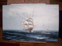 For sale is this magnificent cutter under full sail.