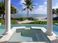 Oceanfront estate with 150 ft. of beach frontage on