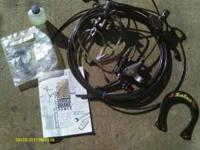 Hydraulic brake setup for V brakes.  Location: