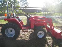 I HAVE FOR SALE A MAHINDRA 2615 4X4 TRACTOR AND LOADER.