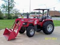 Mahindra 4530 4WD Tractor with front end loader and