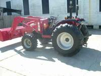 2009 4110 Mahindra 4wd diesel tractor with only 252