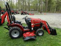 NEW Mahindra Max22 Tractor w/ loader and mid mower, 5
