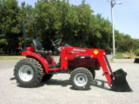 Brand new Mahindra 2216G with a 22 HP diesel, 4x4 (2x4