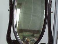 Mahogany 1900?s Full length Floor Mirror $350.00 or