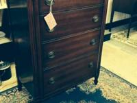 Strong mahogany room chest, outstanding condition,