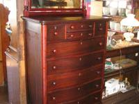Mahogany Upper body of 9 Drawers with a Beveled Glass