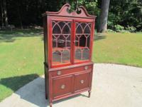 PRICE LOWERED!!  2 glass doors on the top & 2 cabinet