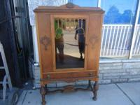 Nice antique china cabinet , mahogany , with 3 panels