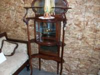 Mahogany Curio - Display - Eterge - Cabinet. Has mirror
