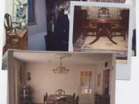 Mahogany Dining Room Set- circa 1935-1945- includes
