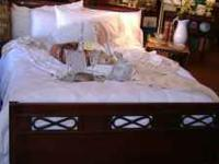 We are selling wonderful mahogany double bed from the
