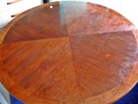 250 obo 4' Round dining table. Solid piece, needs truck