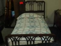 Very nice Mahogany Twin Bed for $205.00.  Comes with