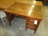 Mahogany typewriter desk. Appealing workdesk. If you've