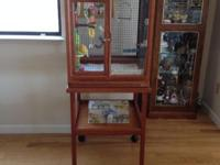 Beautiful wood bird cage, excellent condition, by