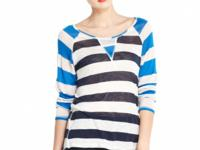 Contrast, colorblocked stripes add a graphic edge to